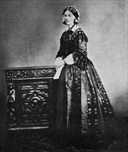 Florence Nightingale, English nurse and hospital reformer, 1855 (1951). Artist: Unknown