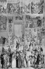 Painting exhibition, the Louvre, Paris, 1737 (1882-1884). Artist: Unknown