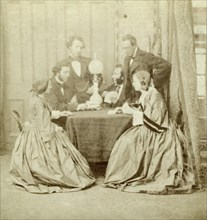 'A Game of Cards', 19th century. Artist: Unknown