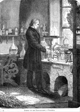 'Liebig in His Laboratory-Chemistry', mid 19th century (c1885). Artist: Unknown