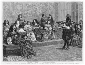 Charles II and his court at the palace during the Plague of London, c1665-1666 (1890). Artist: Unknown