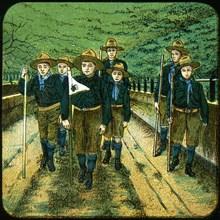 Boy scouts, 20th century. Artist: Unknown