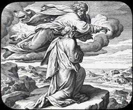 Moses views the land of Israel, 19th century. Artist: Julius Schnorr von Carolsfeld