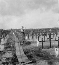 Hooge Crater Cemetery, near Ypres, Belgium, World War I, c1917-c1918. Artist: Nightingale & Co