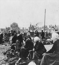 Market women, Arras, France, World War I, c1914-c1918. Artist: Nightingale & Co