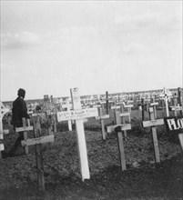 British war cemetery, Gouzeaucourt, France, World War I, c1917-c1918.  Artist: Nightingale & Co