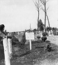 London Rifle Brigade Cemetery, Ploegsteert, Belgium, World War I, c1918. Artist: Nightingale & Co