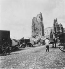 The Hotel de Ville, Arras, France, World War I, c1914-c1918. Artist: Nightingale & Co