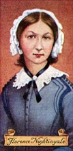 Florence Nightingale, taken from a series of cigarette cards, 1935. Artist: Unknown