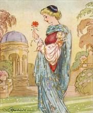 Dante's Beatrice,  (1266-1290), 1937. Artist: Alexander K MacDonald