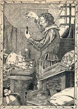 Guy Fawkes Preparing The Slow Match, 1902. Artist: Patten Wilson