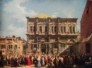 Venice: The Feast Day of Saint Roch, 1735, (1938). Artist: Canaletto
