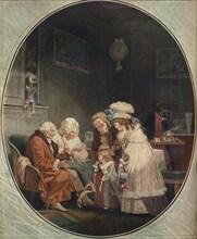 Le Compliment ou La Matinee Du Jour De L'an, 1887, (1916). Artist: Philibert Louis Debucourt