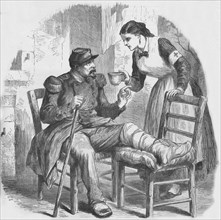 The Red Cross Nurse, 1884. Artist: Unknown
