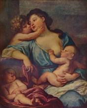 Portrait of a Lady and Three Children, 17th century, (1907). Artist: Sébastien Bourdon