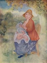 'Madame Renoir allaitant son enfant', c1885 (1932). Artist: Pierre-Auguste Renoir.