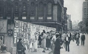 Washington Square, Greenwich Village, New York, USA, 1935. Artist: Unknown.