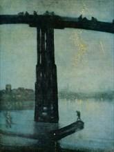 'Nocturne: Blue and Gold - Old Battersea Bridge', c1872-5. Artist: James Abbott McNeill Whistler.