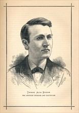'Thomas Alva Edison, American inventor', 1893. Artist: Unknown.