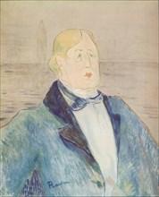 'Portrait of Oscar Wilde', 1895. Artist: Henri de Toulouse-Lautrec.