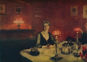 'A Dinner Table at Night', 1884.  Artist: John Singer Sargent.