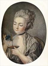 'Girl Taking Coffee', c1774. Artist: Louis Marin Bonnet.