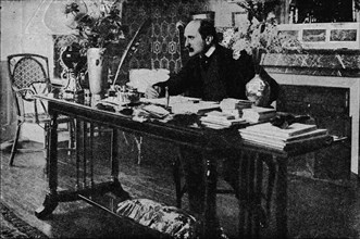 'M. Rostand in his Library', c1902, (1903). Artist: Unknown.