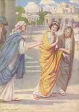 'Verginius left his beautiful young daughter Verginia in the care of her nurse', c1912, (1912). Artist: Ernest Dudley Heath.