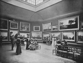 Exhibition of William Turner's paintings in the National Gallery, London, c1903 (1903). Artist: Unknown.