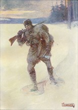 'Alone Across The Trackless Snow', c1908, (c1920). Artist: Joseph Ratcliffe Skelton.