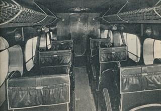 Cabin of a De Havilland DH86B biplane, c1934 (c1937). Artist: Unknown.