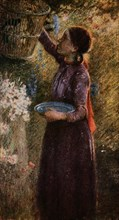 'The Bird Cage', c1900, (1918). Artist: Edward Stott.