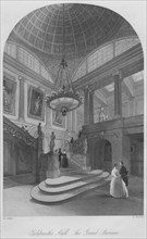 'Goldsmith's Hall. The Grand Staircase', c1841. Artist: Henry Melville.