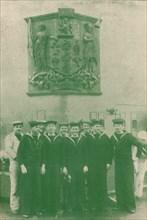 HMS 'New Zealand', c1918 (1919). Artist: Unknown.