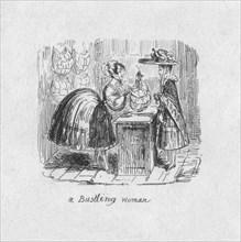 'A Bustling Woman', 1829. Artist: George Cruikshank.
