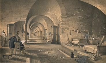'Interior of Fort Nicholas', 1856. Artist: Edmund Walker.