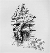 'The Nightingale Monument', 1890. Artist: Unknown.