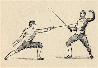'Parry in Tierce - Fencing', 1912. Artist: Unknown.