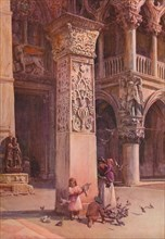 'In the Piazzetta, Venice', c1900 (1913). Artist: Walter Frederick Roofe Tyndale.