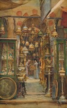 'The Store of Nassan', c1905, (1912). Artist: Walter Frederick Roofe Tyndale.