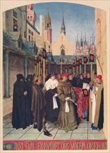 'The Burial of Etienne Chevalier', c1455, (1939). Artist: Jean Fouquet.