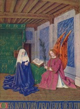 'The Second Annunciation', c1455, (1939). Artist: Jean Fouquet.