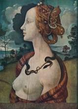'Portrait of Simonetta Vespucci', c1480, (1939). Artist: Piero di Cosimo.
