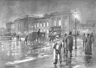 'The General Post Office - Night', 1891. Artist: William Luker.