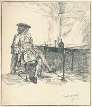 The Letter. Unpublished Pen Drawing, 1890', 1923. Artist: Edwin Austin Abbey.