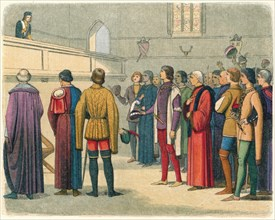 'Richard invited to assume the crown', 1483 (1864). Artist: James William Edmund Doyle.