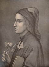Dante Alighieri, Italian poet, 19th century (1894). Artist: Eduardo Chiossone.