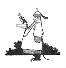 'The Chief Imperial Nightingale Bringer', c1930. Artist: W Heath Robinson.