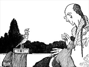 'He Was Quite As Successful as the Real Nightingale', c1930. Artist: W Heath Robinson.