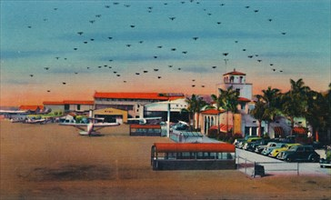 'Lindbergh Field and Administration Building. San Diego, California', c1941. Artist: Unknown.
